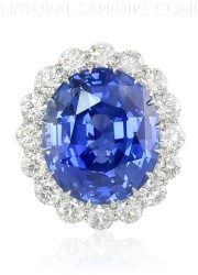 69ct Royal Blue Sapphire Ring – A Sapphire Ring Fit for a Queen