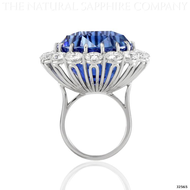 69ct Royal Blue Sapphire Ring – A Sapphire Ring Fit for a Queen ...
