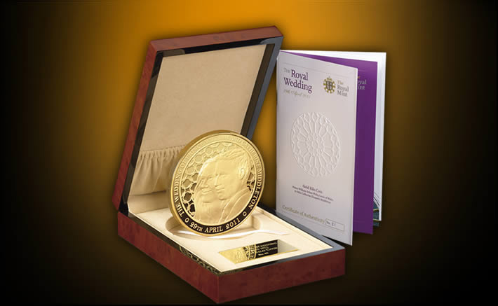 The Royal Wedding Gold Kilo coin by the Royal Mint