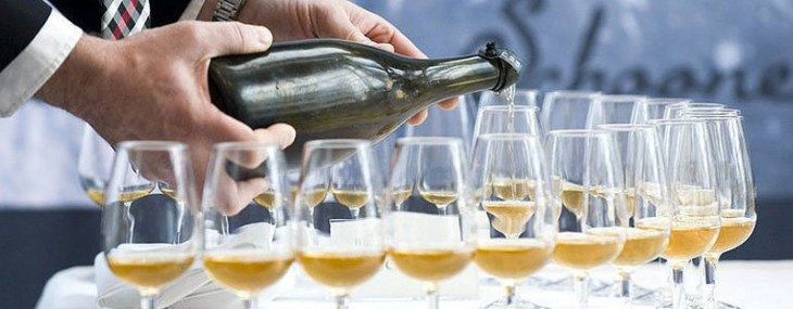 A man pours a 200-year-old champagne