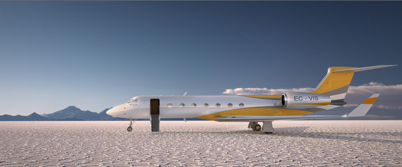 The $60 Million iPad-Controlled Gulfstream G550 Private Jet