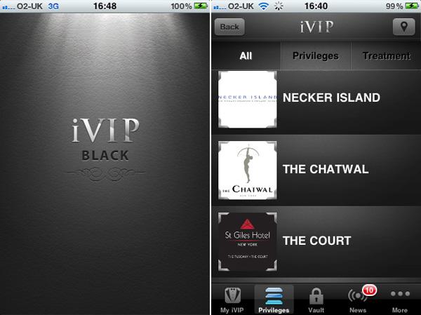 iVIP Black - The Millionaire's App