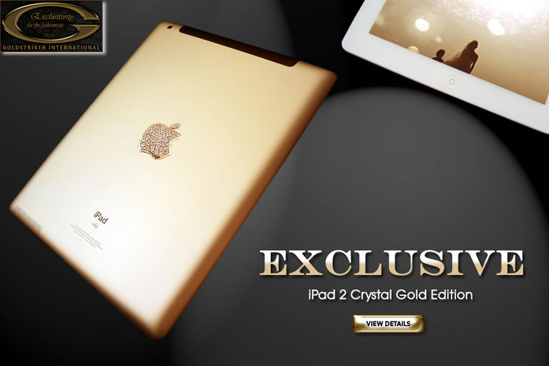 iPad 2 Crystal Gold Edition – New Luxury Unique By Stuart Hughes