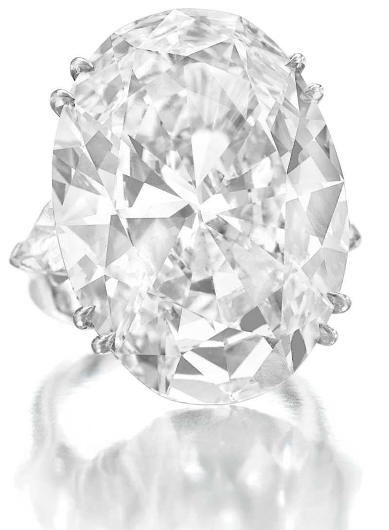 Impresive 46.51 Carat Diamond Ring Higlights Christie's Important Jewels Sale