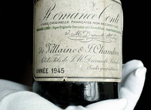 750 ml bottle of 1945 Romainee-Conti