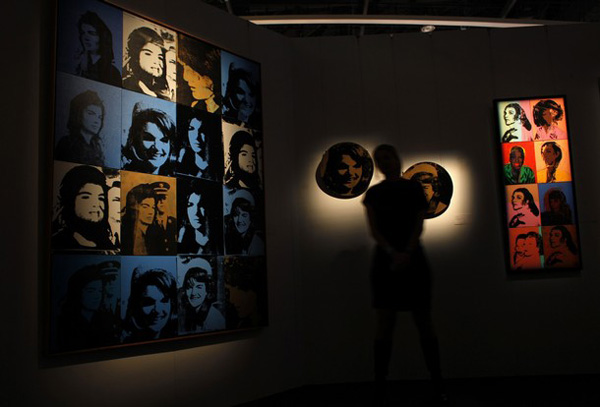 Andy Warhol's Sixteen Jackies and Rounded Jackie