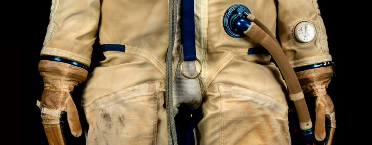 Sokol K spacesuit worn by cosmonaut Alexei Leonov during the historic 1975 Apollo-Soyuz Project