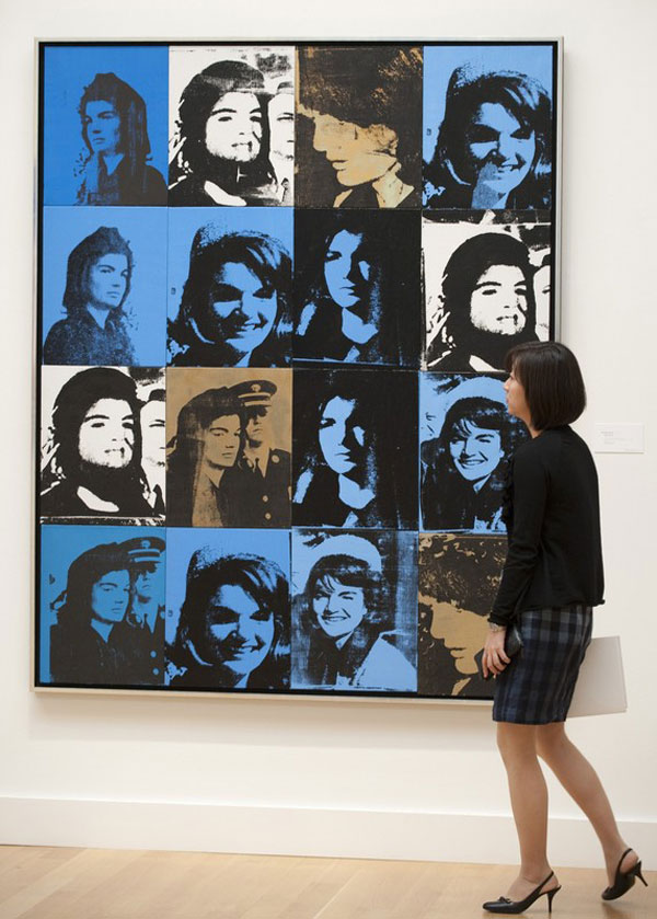 Sixteen Jackies by Andy Warhol