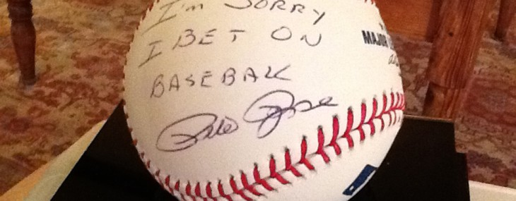 Baseball Signed by Pete Rose and Paul Hornung