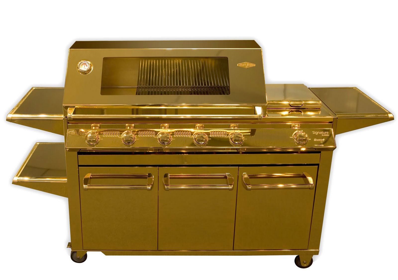 Beefeater carat gold plated barbecue extravaganzi