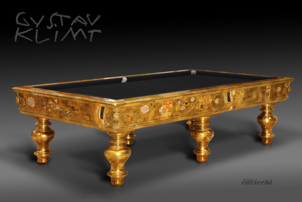 Unique cavicchi billiard table designed as a piece of for Expensive pool tables