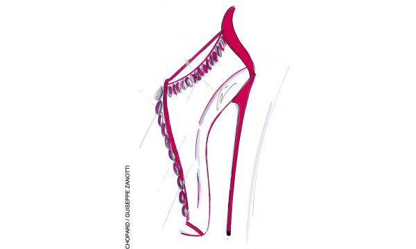 Chopard Diamond Encrusted Stiletto Sandals by Giuseppe Zanotti