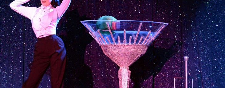 Swarovski Martini lights up the stage of Dita Von Teese's latest burlesque