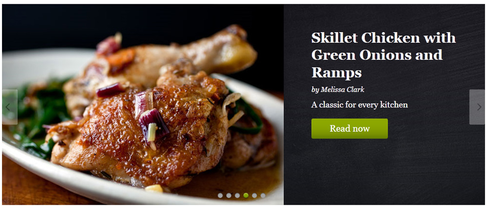 Gilt Taste, Skillet Chicken with Green Onions and Ramps