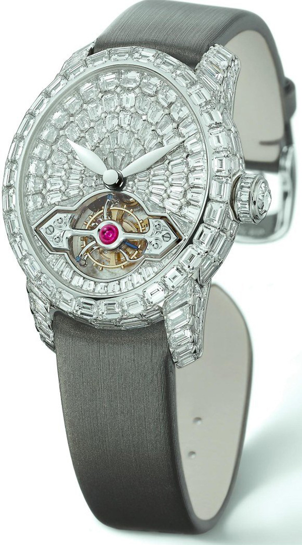 Cat's Eye Tourbillon Haute Joaillerie Watch by Girard Perregaux