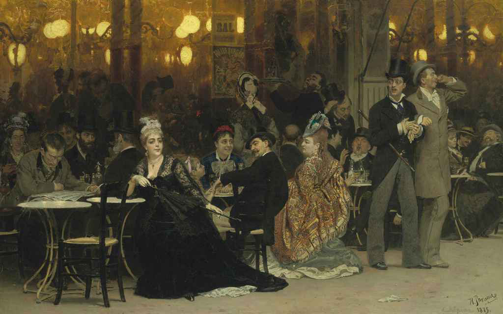 A Parisian Caf by Ilya Repin Will Lead Christies Forthcoming Russian Sale