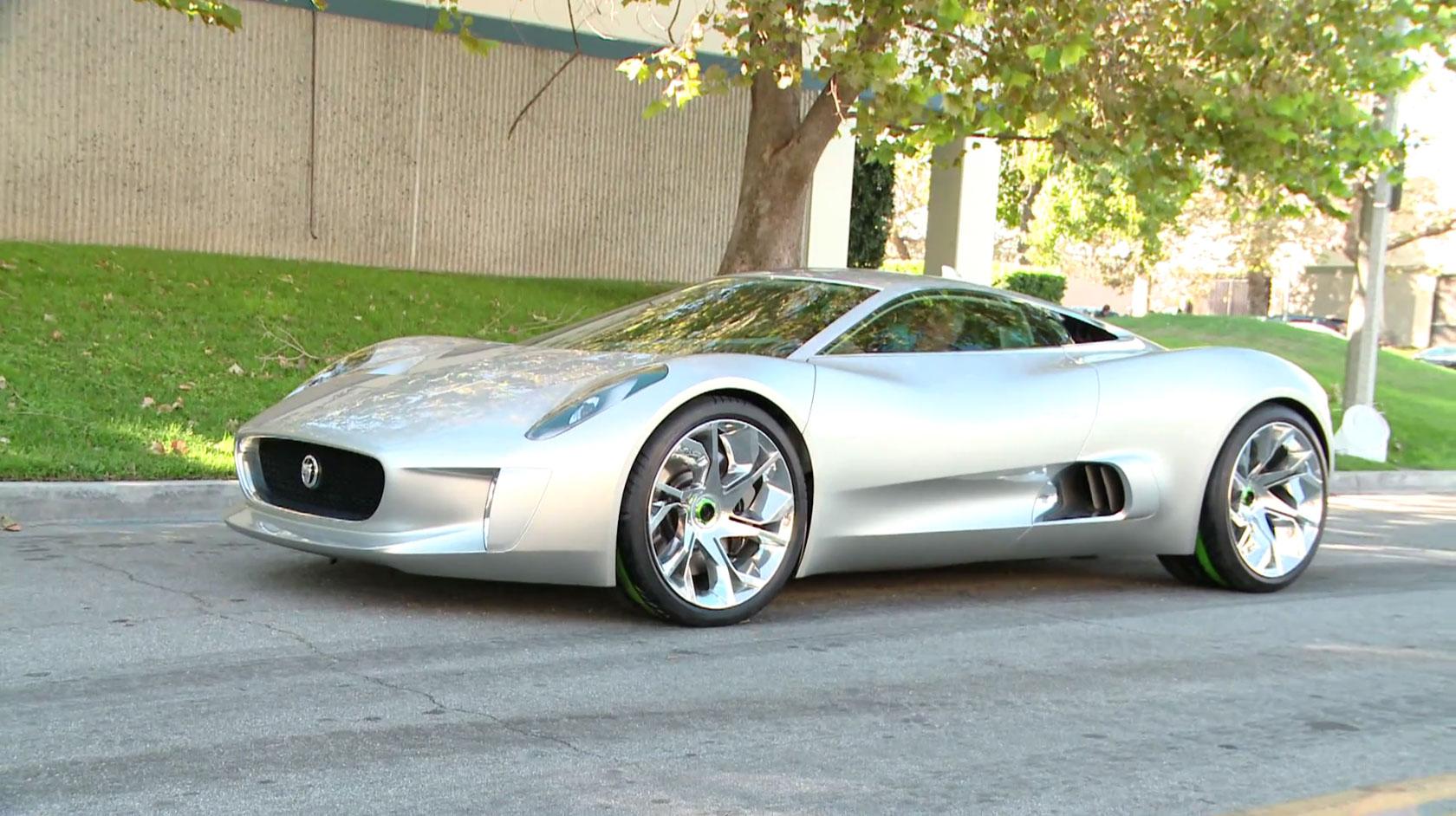 Jaguar C X75 Hybrid Supercar