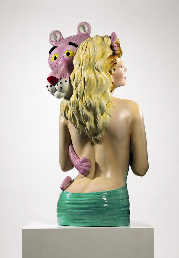 Pink Panther Sculpture by Jeff Koons