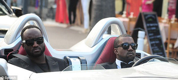 Kanye West heads to Elton John's charity bash in a $1.7m limited edition Mercedes