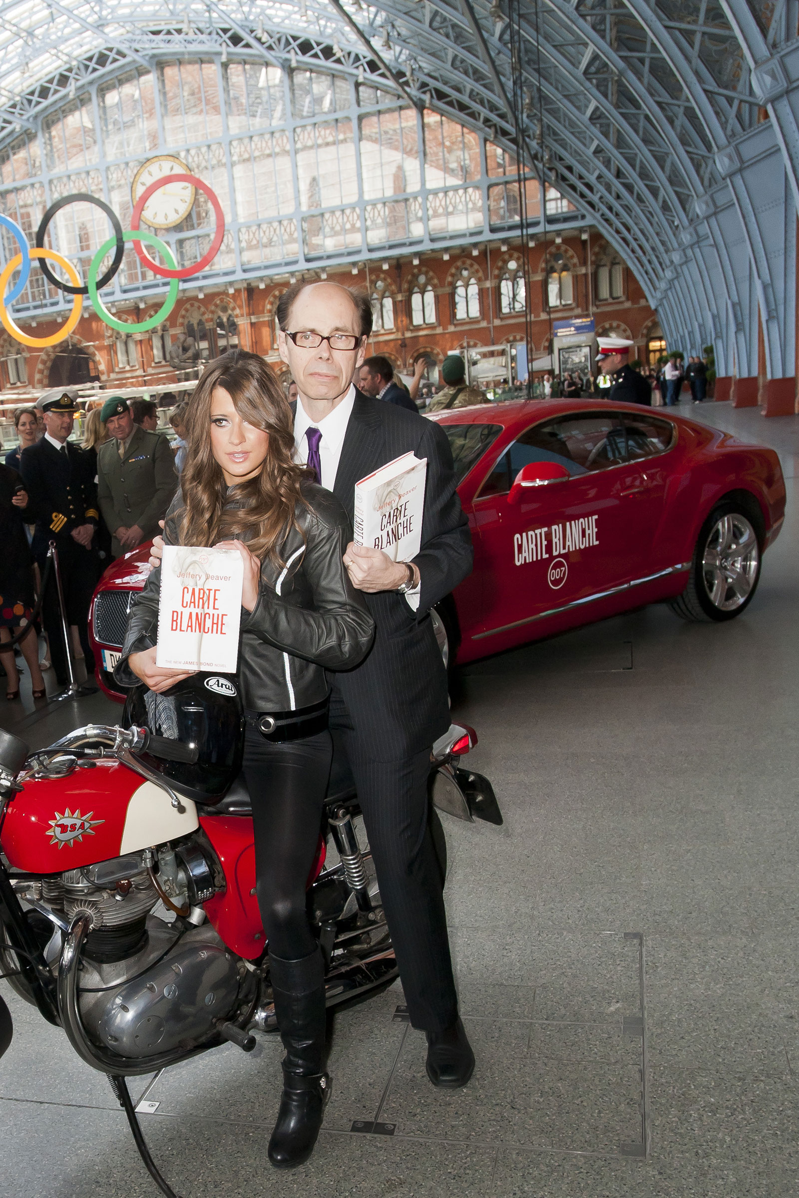 Launch of New James Bond Book, Carte Blanche, Lifts the Roof at St Pancras International