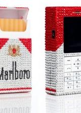 The Swarovski Rhinestoned Marlboro Phone Simply Dazzles
