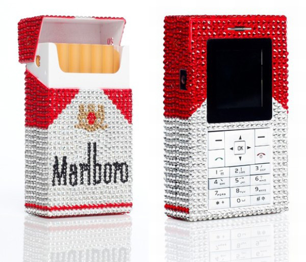 The Swarovski Rhinestoned Marlboro Phone Simply Dazzles