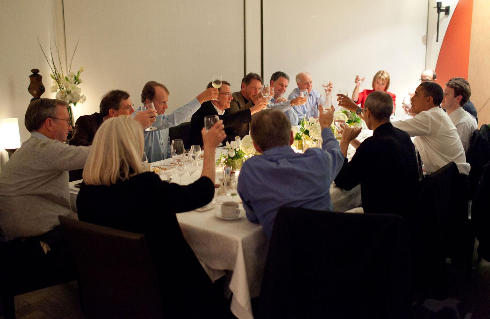 Obama's $1 trillion Silicon Valley Dinner