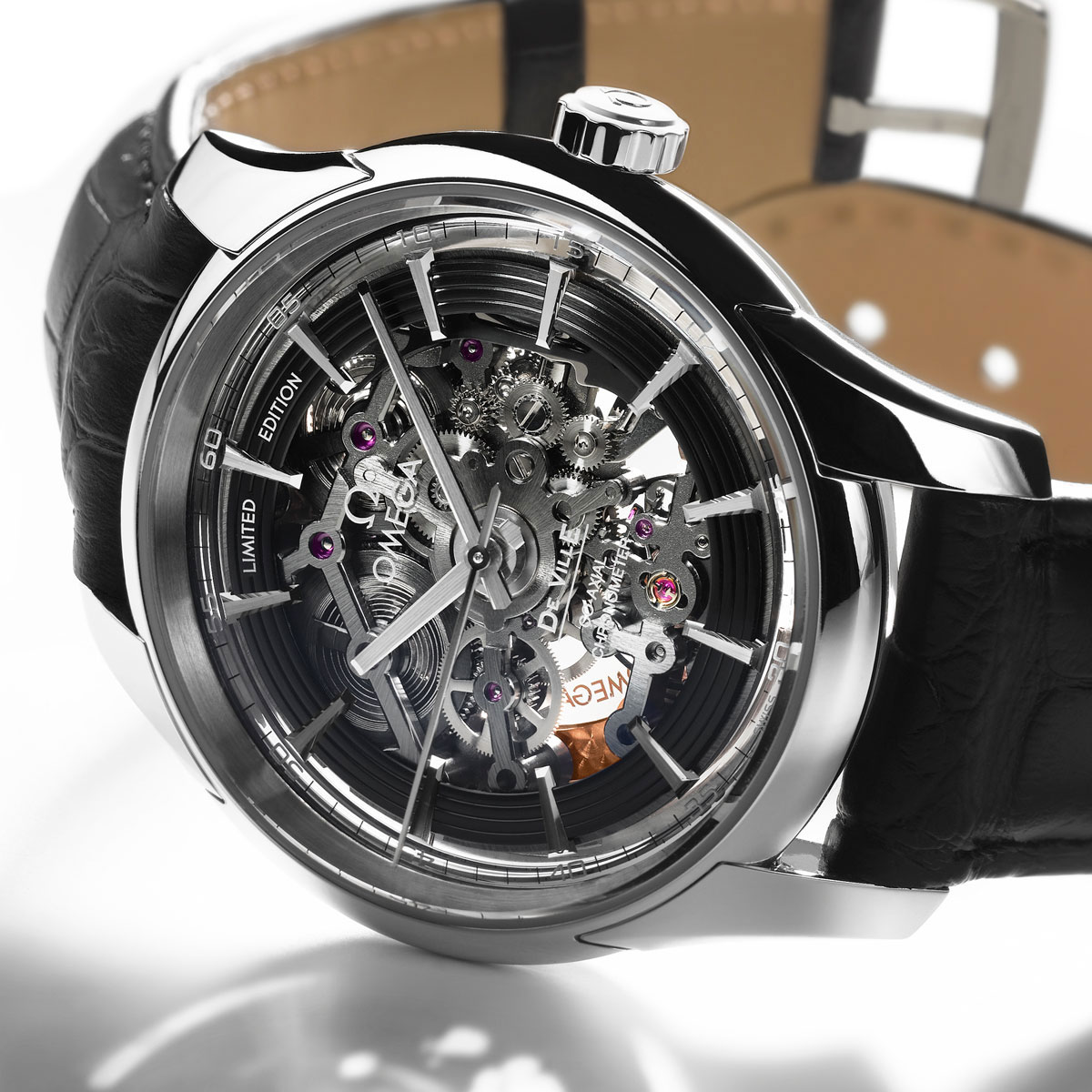 Omega Hour Vision Co-Axial Skeleton Platinum Watch