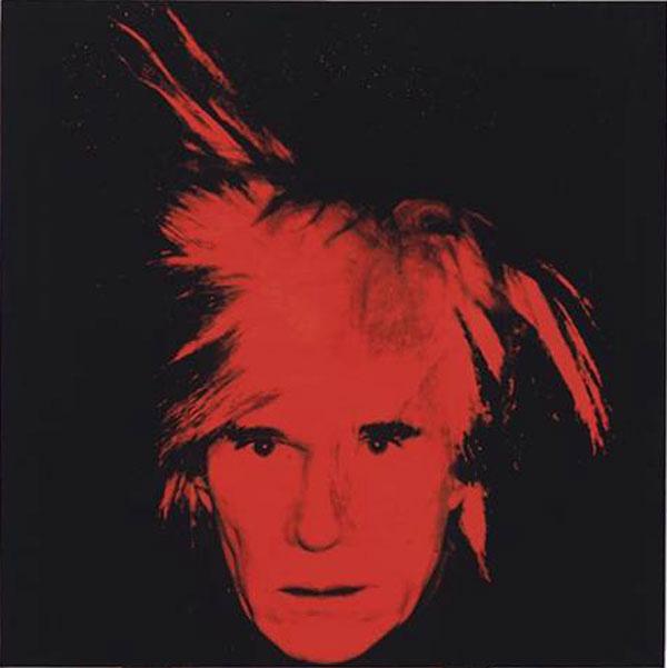 Red-on-black Self-Portrait by Andy Warhol