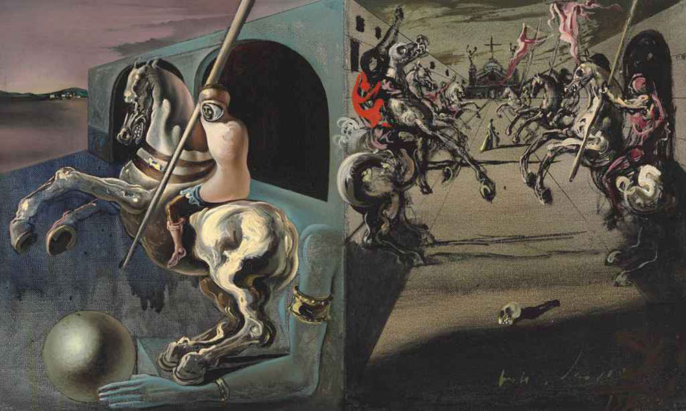 Chevaliers on Parade by Salvador Dali
