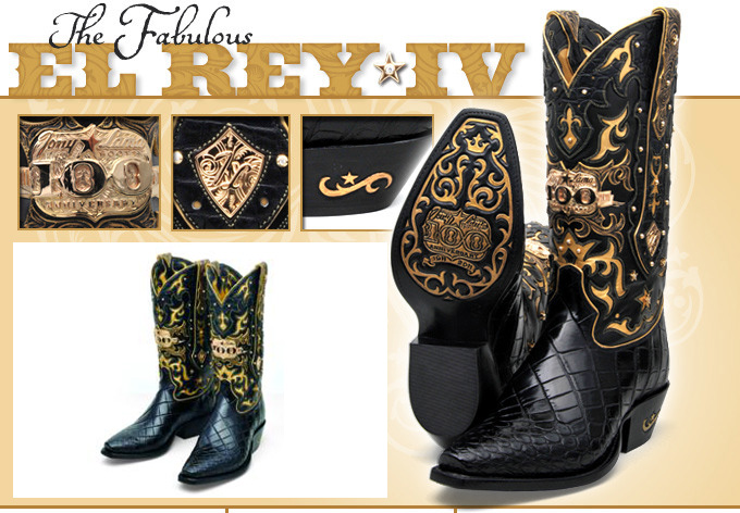 Tony Lama Boots Celebrates Centenary With $50,000 Cowboy Boots ...