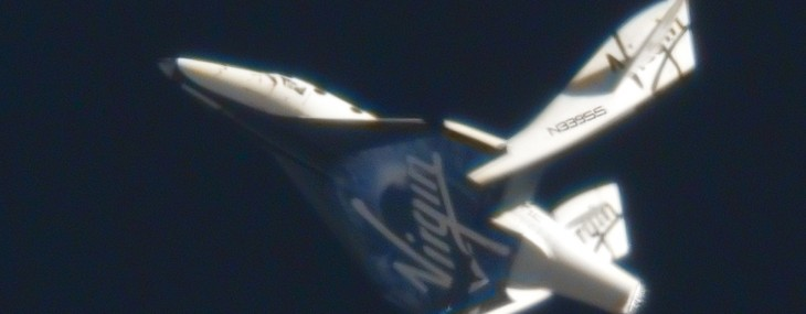 SpaceShipTwo's First Feathered Flight