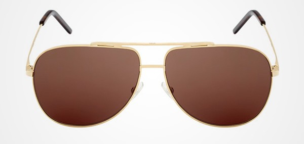 Dior Homme Gold 01 Aviator Sunglasses