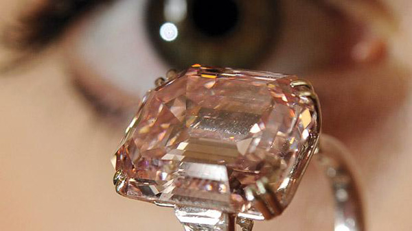 Rare Emerald-cut Fancy Intense Pink Diamond Ring Sold for $10.8 Million