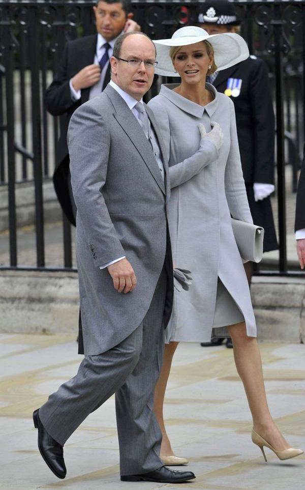 Prince Albert II of Monaco with Charlene Wittstock