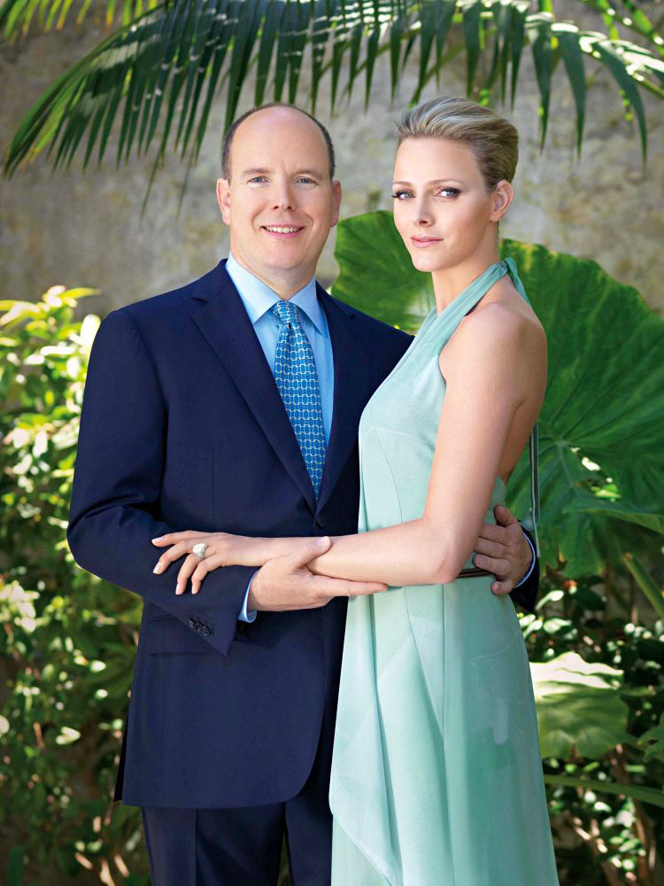 Prince Albert II of Monaco with Charlene Wittstock