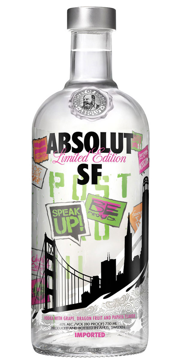 Absolut SF - Limited Edition Vodka Dedicated To San Francisco