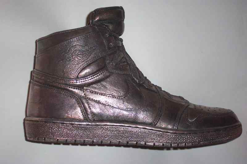 Michael Jordan's Air 1 Sterling Silver Shoe For $100,000 on eBay