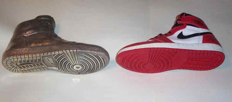 Air Jordan 1 Sterling Silver Shoe