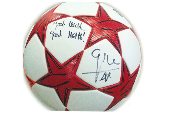 Official Champions League Ball Signed by Pep Guardiola up for Auction