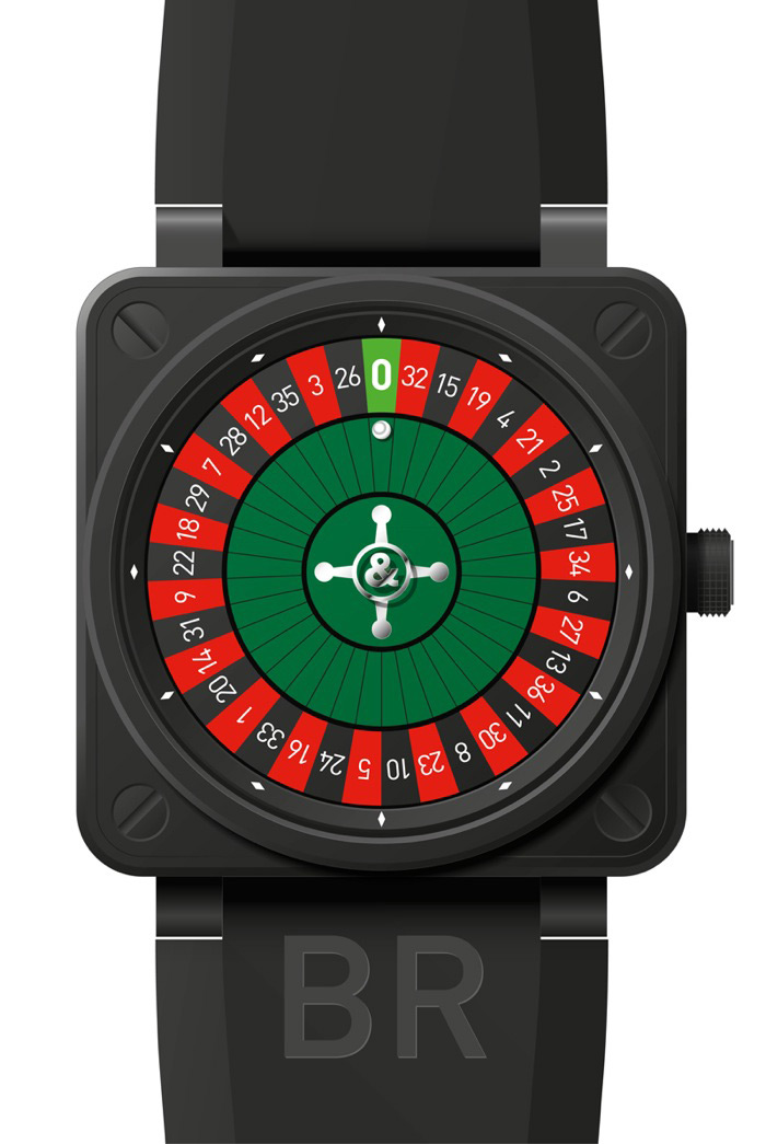 Bell & Ross BR01 Casino Carbon Watch