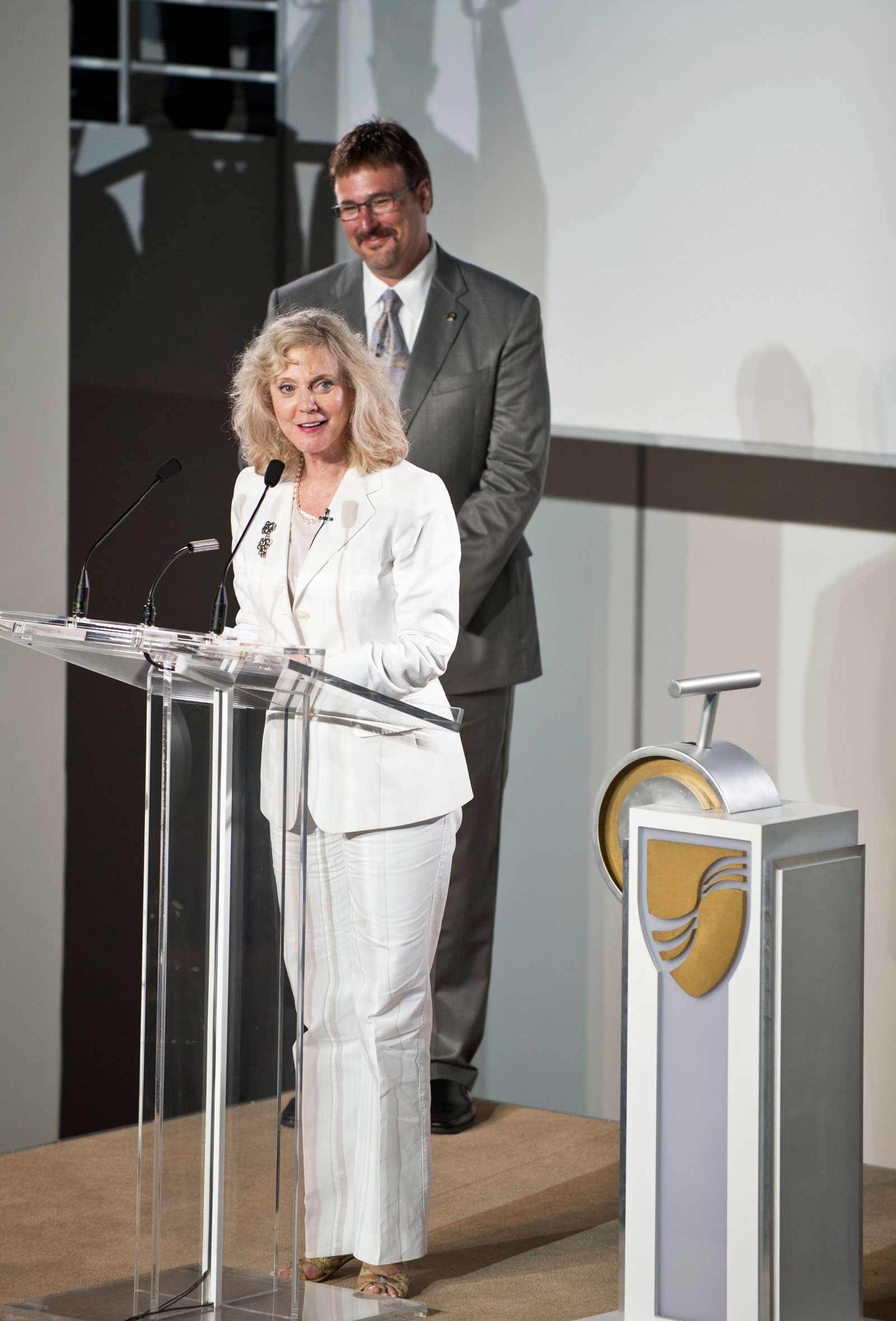 Blythe Danner and Richard Meadows Seabourn Quest naming