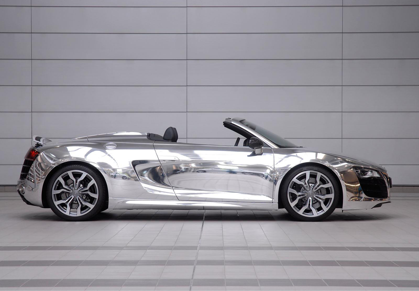 You are here: Home / Cars&Motors / Chrome Audi R8 Spyder Auctioned For ...