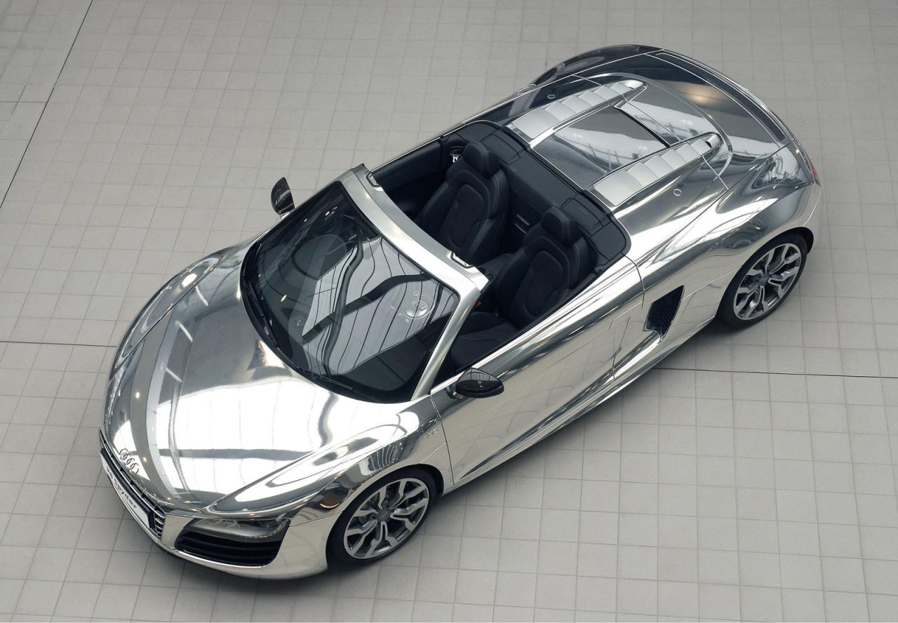 Chrome Audi R8 Spyder V10