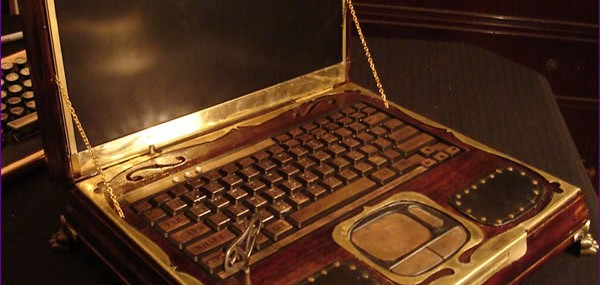 Datamancer's Victorian Steampunk Laptop