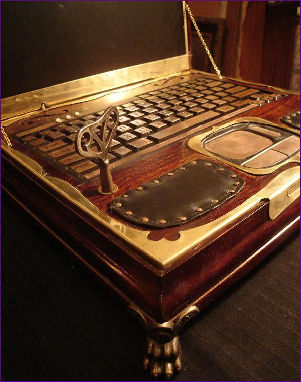 Datamancer's Victorian Steampunk Laptop