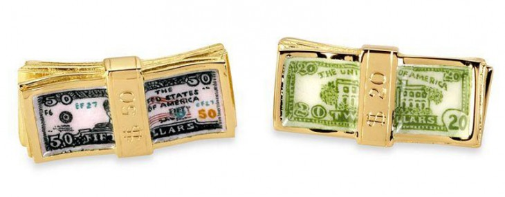 Deakin & Francis's Gold Dollar Bill Cufflinks