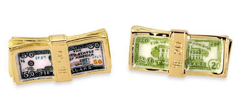 Deakin & Francis Gold Dollar Bill Cufflinks