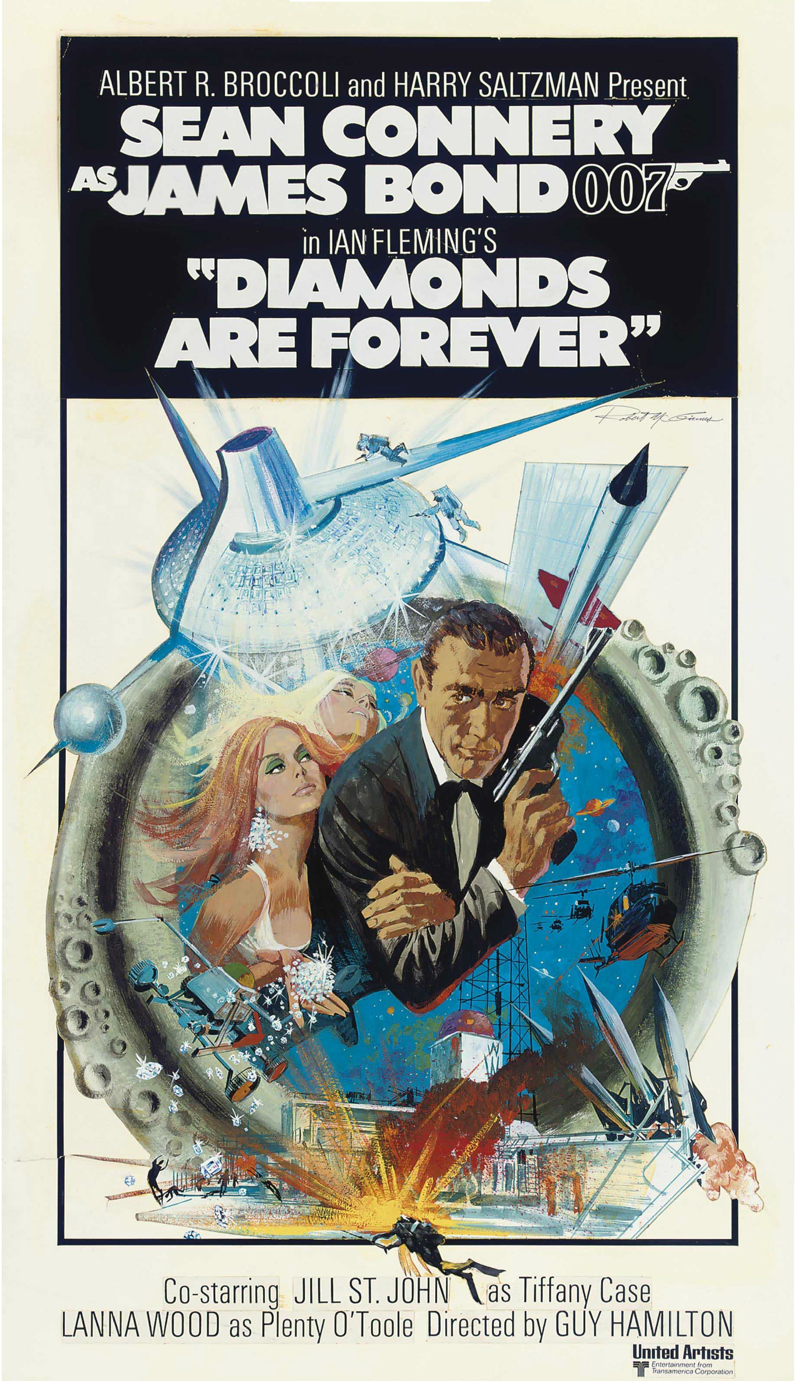 The Original Diamonds Are Forever Movie Poster Fetches ...