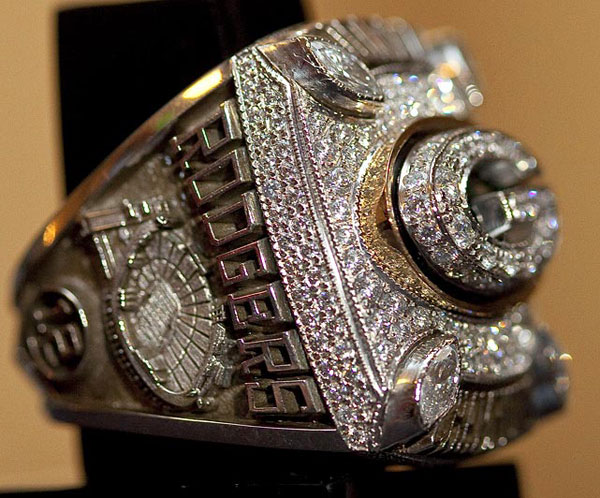 Green Bay Packers' Super Bowl XLV Diamond Champion Rings